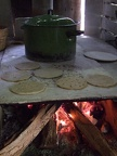 Tortillas cooking the traditional way