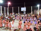 School shows in the plaza mayor in Flores