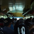 Inside the chicken bus