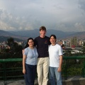 Carolina, Diego and me on top of Cerro Nutibarra