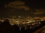 Night view of Medellin sprawling out along the valley