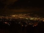 Night view of Medellin with newly built apartment blocks in the foreground