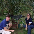 Carolina and me with coffee seedlings ready for planting