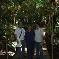 Victor, Carolina and Diego at the Botanical Gardens