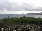 View over Cousin Island looking out to Aride Island (on the left) and Praslin (on the right).