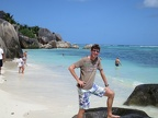 Me at Anse Source d'Argent, on of the most famous beaches in the Seychelles