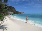 Me at Anse Source d'Argent; an incredible beach!