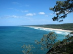 Looking across to one of the endless beches on North Stradbroke Island