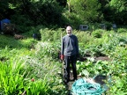 Dad at his allotment