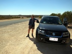 Claire with our trusty Gran Vitara