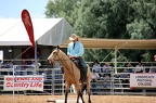 A stockman showing his horse control skills at the Longreach Muster