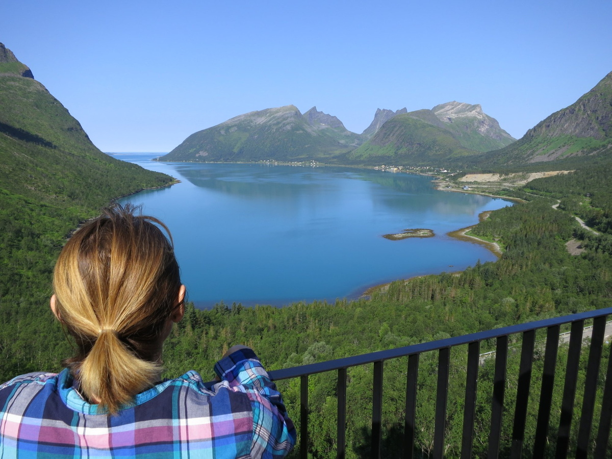 Looking out on one of the many fjords