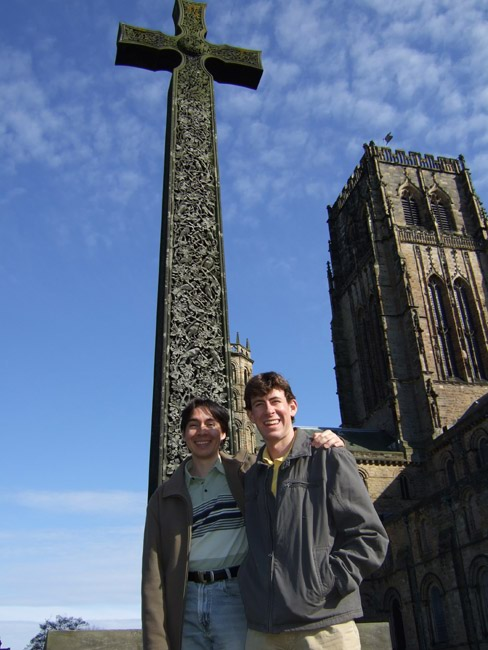 Diego and me outside the cathedral