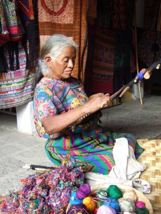 Traditional Mayan weaving