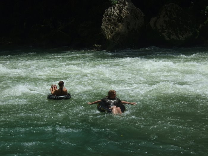Inner tubing down the river