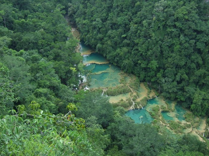 The beautiful springs that make up Semuc Champey