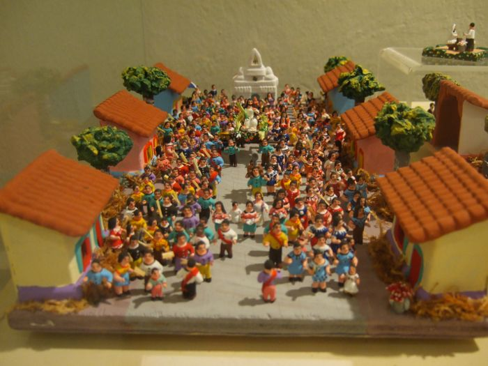 Incredible religious procession in miniature