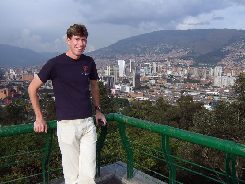 View towards the centre of Medellin