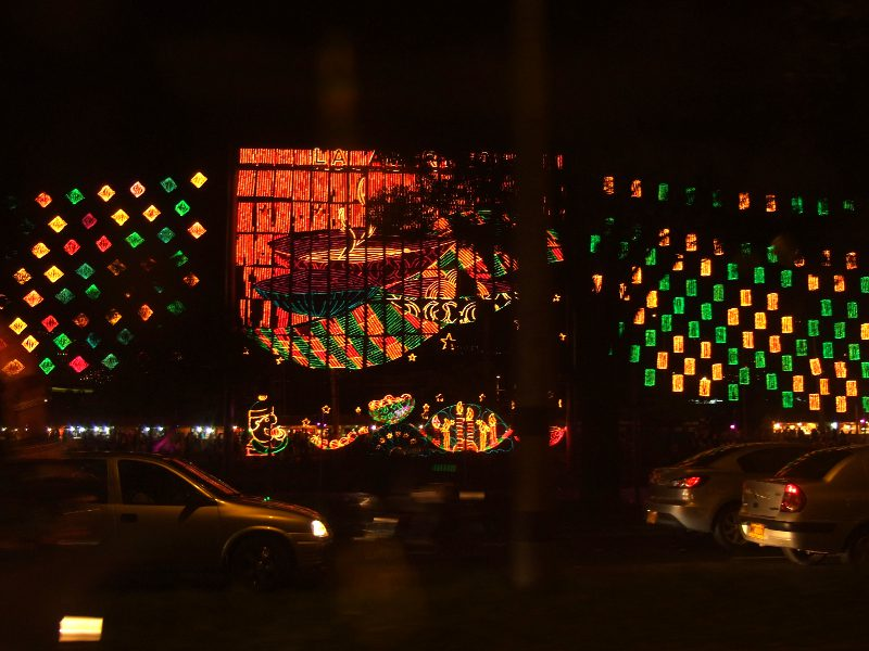 Alumbrado Navideno, the Christmas light festival in Medellin