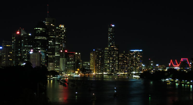 Brisbane centre at night