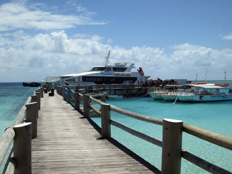 Arriving at Heron Island